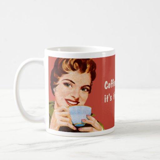 Kaffee behält mich beschäftigt, bis es Zeit ist, Tassen