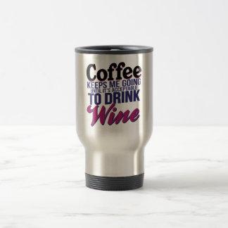 Kaffee, bis es annehmbar ist, Wein zu trinken Reisebecher