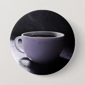 Kaffee-Blues Runder Button 7,6 Cm