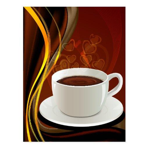 Kaffee-Café-Kunst Postkarte