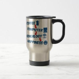 Kaffee-Computer-Genealogie-Glück Reisebecher