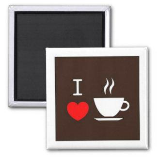 Kaffee der Liebe I Quadratischer Magnet