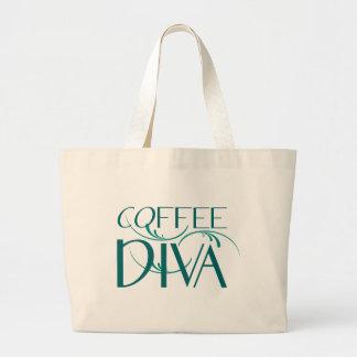 Kaffee-Diva-Tunnel-bohrwagenTasche Jumbo Stoffbeutel