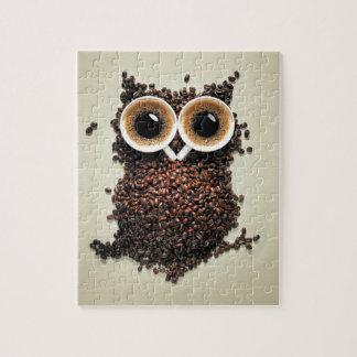 Kaffee-Eule Jigsaw Puzzles