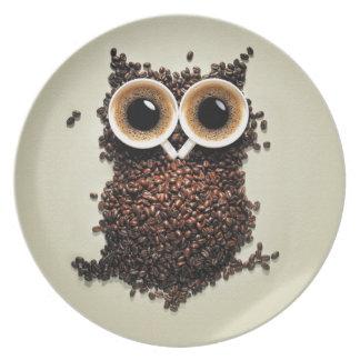 Kaffee-Eule Flacher Teller