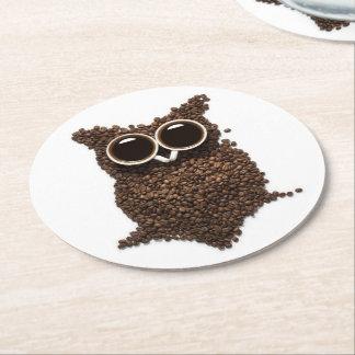Kaffee-Eulen-runder PapierUntersetzer Runder Pappuntersetzer