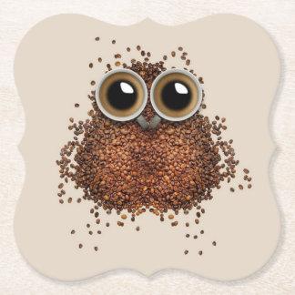 Kaffee-Eulenpapier-Untersetzer Untersetzer
