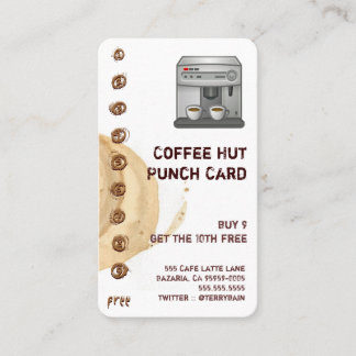 Coffee Stain and Cup Drink Punchcard
