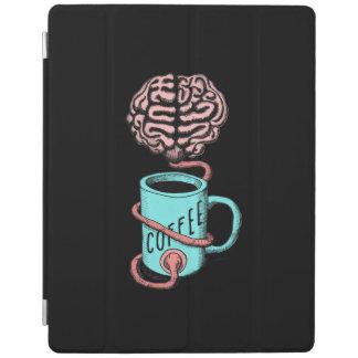 Kaffee für das Gehirn. Lustige Kaffeeillustration iPad Hülle