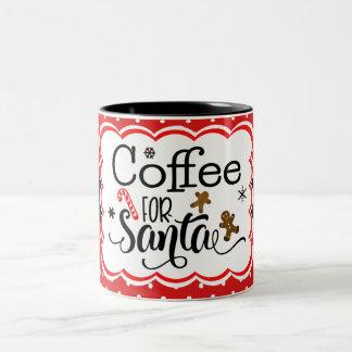 Kaffee für Sankt-Tasse Zweifarbige Tasse