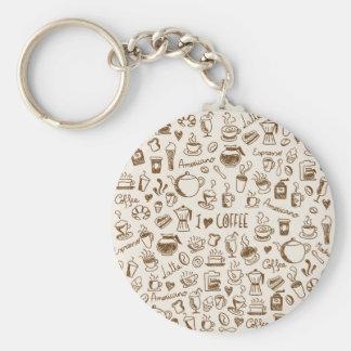 Kaffee-Gekritzel Schlüsselanhänger