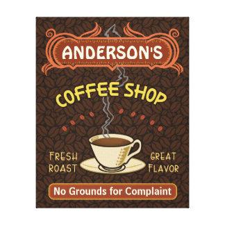 Kaffee-Geschäft mit der Tasse schaffen Ihr eigenes Leinwanddruck