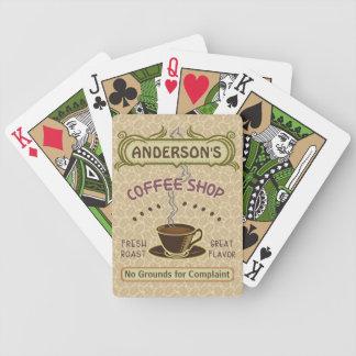 Kaffee-Geschäft mit Schale schaffen Ihr eigenes Bicycle Spielkarten