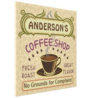 Kaffee-Geschäft mit Schale schaffen Ihr eigenes Leinwanddruck