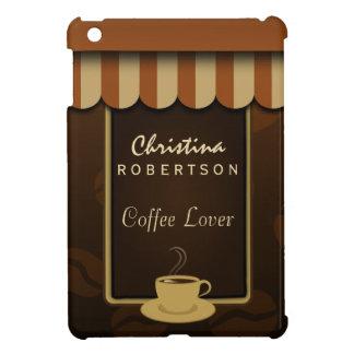 Kaffee-Geschäfts-Fronten-Brown-Café-Liebhaber iPad iPad Mini Hülle