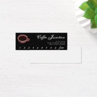Kaffee-Getränk-Durchschlag/Loyalitäts-Karte Mini Visitenkarte