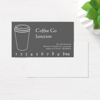Kaffee-Getränk-Durchschlag/Loyalitäts-Karte Visitenkarte