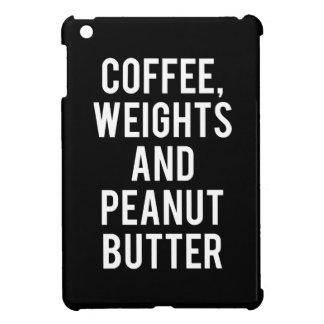 Kaffee, Gewichte und Erdnussbutter - lustige iPad Mini Hülle