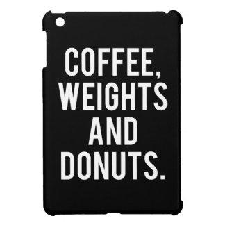 Kaffee, Gewichte und Schaumgummiringe - lustige iPad Mini Hülle