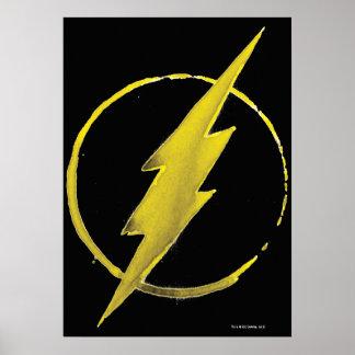 Kaffee-grelles Symbol - Gelb Poster