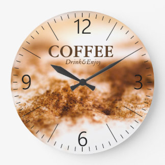 Kaffee Große Wanduhr