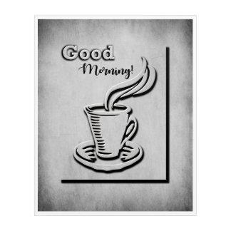 Kaffee-guter Morgen! Acryl Wandkunst
