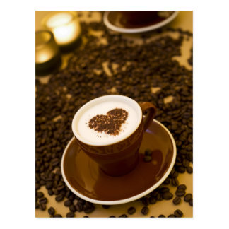 Kaffee-Herz Postkarte
