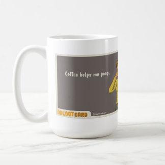 Kaffee hilft mir zu kacken kaffeetasse