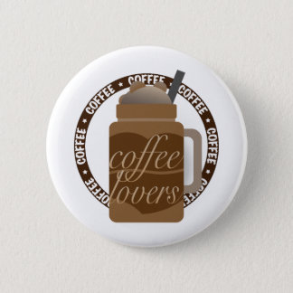 Kaffee-Illustration durch Syahikmah Runder Button 5,7 Cm