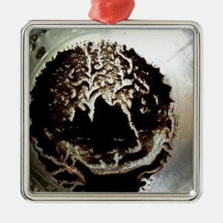 Kaffee im Weckglas-Entwurf Silbernes Ornament