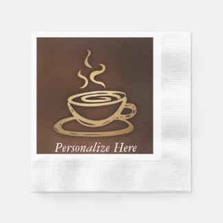 Kaffee in meiner Schale Serviette