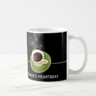 Kaffee ist ein Verfasser-Herzschlag Kaffeetasse