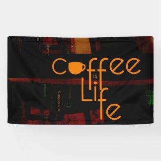 Kaffee ist Leben Banner