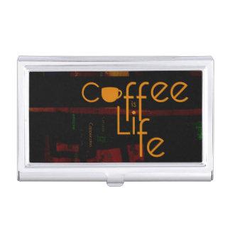 Kaffee ist Leben Visitenkarten Etui