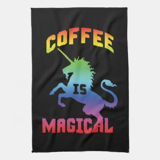 Kaffee ist - lustiges Neuheits-Koffein-Einhorn Geschirrtuch
