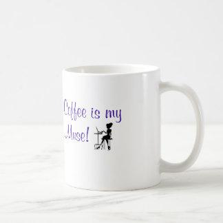 """""""Kaffee ist mein Muse!"""" Tassen-ft.-Liste von Musen Kaffeetasse"""