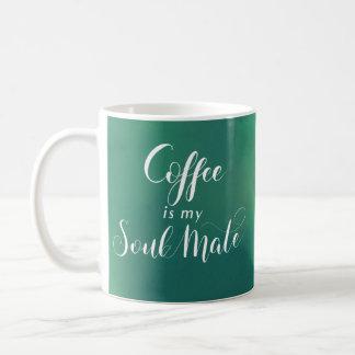 Kaffee ist mein Soul-Kamerad-Grün Watercolot Kaffeetasse