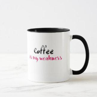 Kaffee ist meine Schwäche Tasse