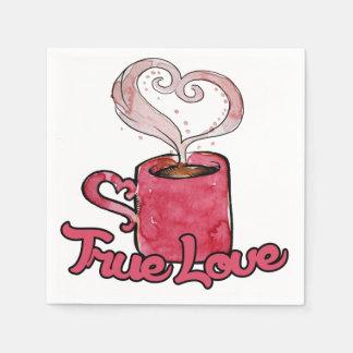 Kaffee ist meine wahre Liebe Serviette
