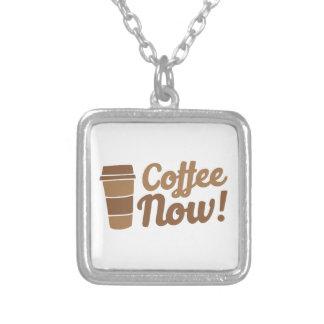 Kaffee jetzt versilberte kette