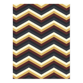 Kaffee-Karamell-Zickzack Muster Postkarte