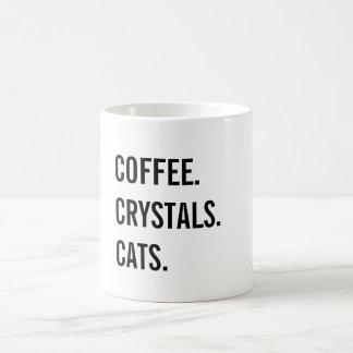 Kaffee, Kristalle, Katzen Kaffeetasse