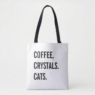 Kaffee, Kristalle, Katzen Tasche