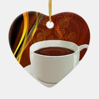 Kaffee-Kunst-Café Keramik Ornament