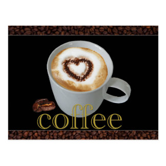 Kaffee-Liebe-Postkarten Postkarte