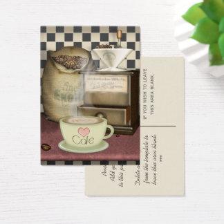 Kaffee-Liebhaber Café Visitenkarte