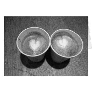Kaffee-Liebhaber Grußkarte
