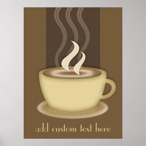 Kaffee-Liebhaber-personalisiertes Plakat