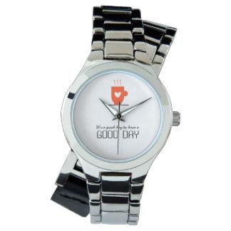Kaffee-Liebhaber-stilvoller niedlicher warmer Armbanduhr