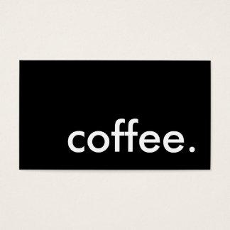 Kaffee. LoyalitätsLochkarte Visitenkarten